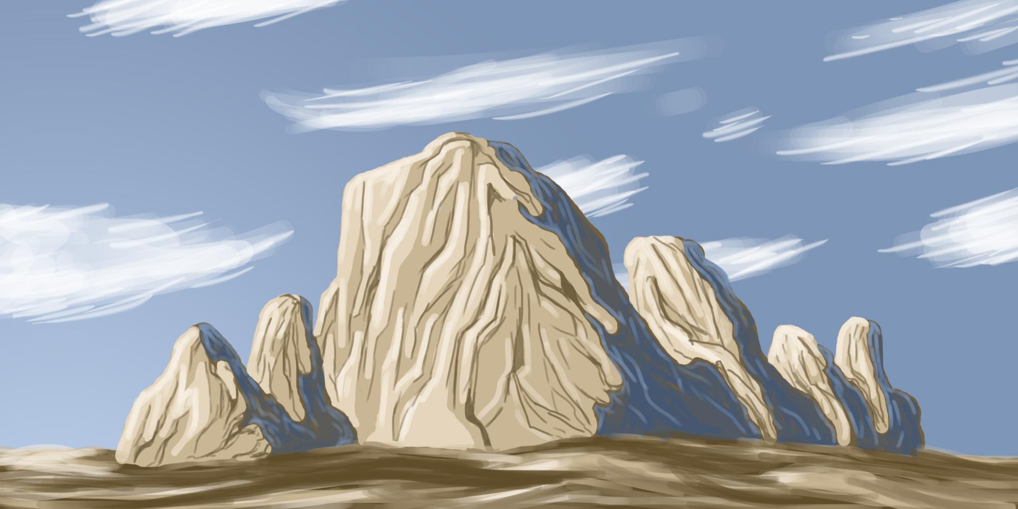Tutoriaux photoshop matte painting trouvez le tutoriel photoshop cs4 cs5 flash illustrator - Rocher dessin ...
