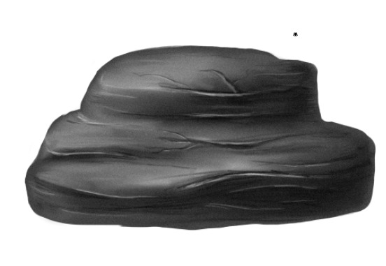 comment dessiner un rocher