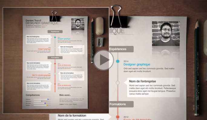 cr u00e9er un cv graphique tuto photoshop trouvez le tutoriel photoshop cs4  cs5  flash  illustrator